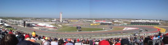 Circuit of The Americas: Panorama from Turn 1