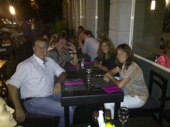 Hotel Jardín de Iguazú: cenando al aire libre