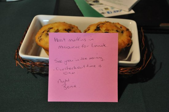 Grange Motor Lodge : Muffins prepared for us
