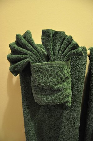 Grange Motor Lodge: Neatly decorated towels