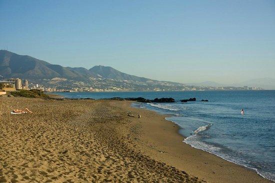 CLC Club La Costa World: Small strip of beach at Club La Costa