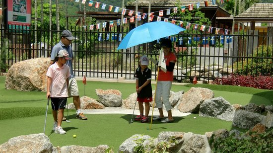 Phuket Adventure Mini Golf: Sure, you can borrow an umbrella from us for free if needed ;)