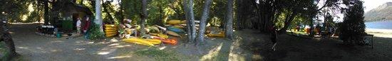 Cuadrante Sur Kayak Bariloche: de la guarderia a la playa