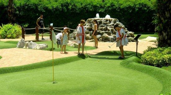 Young boys enjoy their afternoon at Phuket Adventure Mini Golf