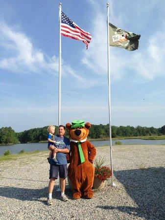 Yogi Bear's Jellystone Park at Gloucester Point: Flag Raising with Yogi Bear