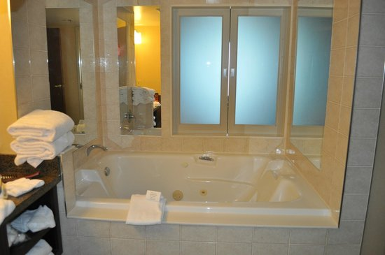 Niagara Falls Marriott Fallsview Hotel & Spa : jacuzzi in larger rooms