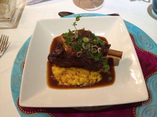Le Rive Gauche : Lamb with risotto and a fantastic bouillon.