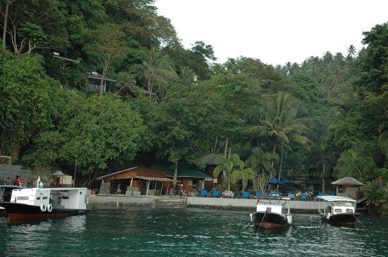 Lembeh Resort: Resort view from the Strait