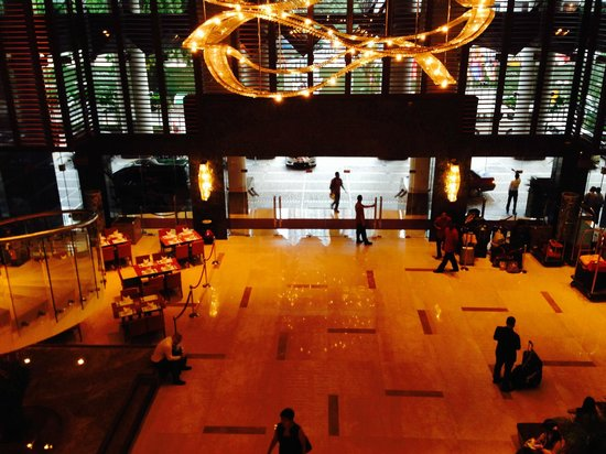 Pullman Kuala Lumpur City Centre Hotel And Residences : Lobby from FIrst Floor Coffee Shop