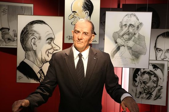 LBJ Presidential Library : Wax Figure life size