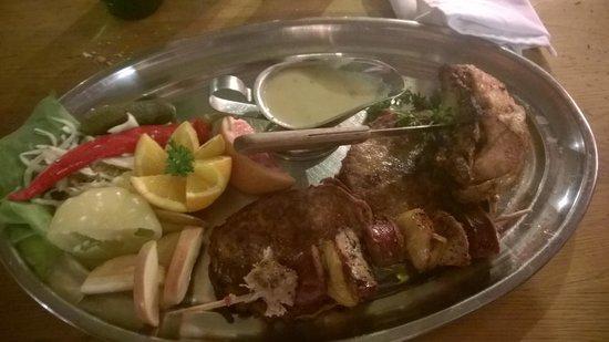 Sir Lancelot Knights' Restaurant: menu pessimo
