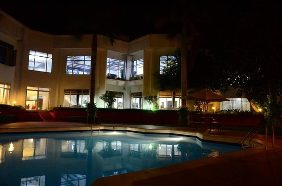 Ramada Khajuraho: Poolside in night time