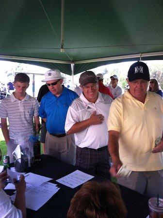 San Vicente Golf Course: Registration at golf tournament...