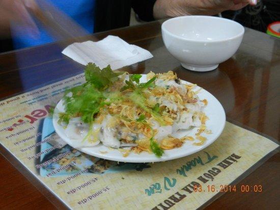 Hanoi Cooking Centre: shrimp pancake