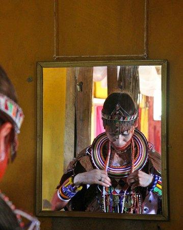 Leganishu Maasai Cultural Homestay: in the room getting ready