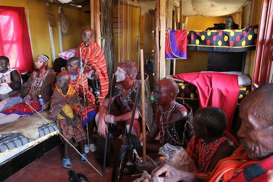 Leganishu Maasai Cultural Homestay: Part of the wedding ceremony in our room