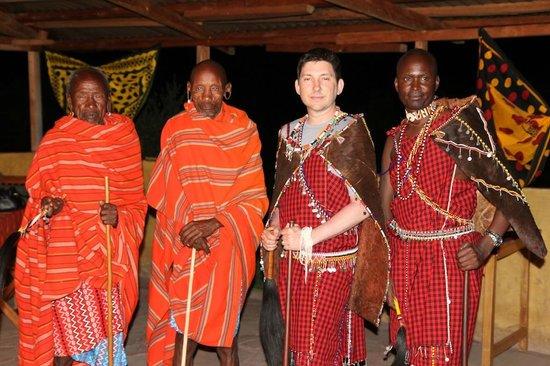 Leganishu Maasai Cultural Homestay: Me with the Maasai elders