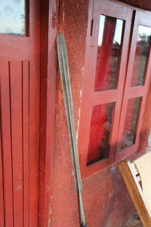 Leganishu Maasai Cultural Homestay: Outside the door