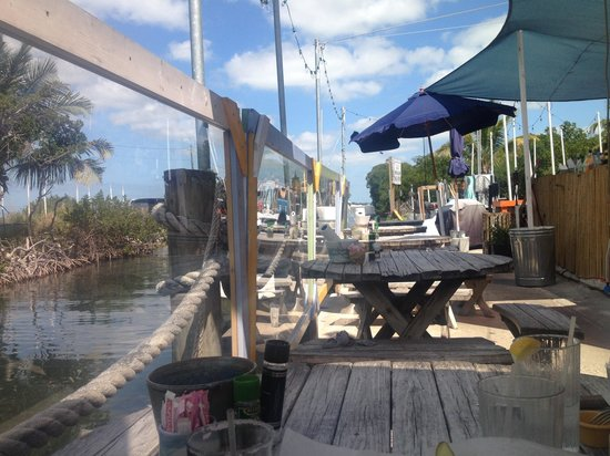 The Wharf Bar & Grill: Outside seating
