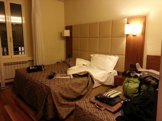 Hotel Fenice: este é o quarto dos andares mais altos.
