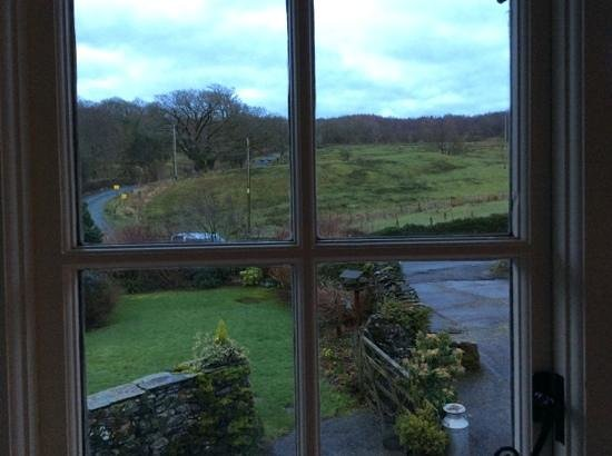 High Wray Farm: The view from our bedroom window
