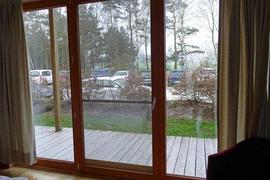 Hotel Camp Reinsehlen: Reinsehlen - Parkplatz-Ausblick von Zimmer 38
