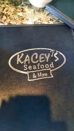 KaCey's Seafood and More : Front of the menu