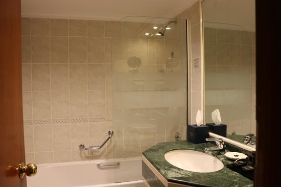 The Carlton Tower Hotel: City view bathroom