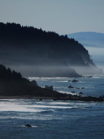 Trees of Mystery: A beautiful beach on the way from Crescent City.