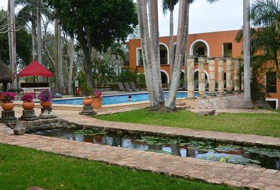 Hotel Hacienda Uxmal Plantation & Museum : Jardines y alberca