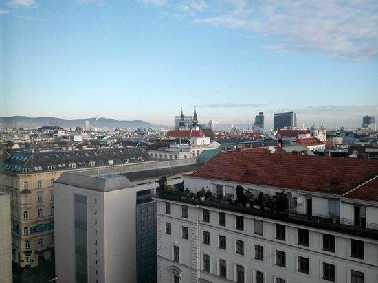 Hotel Am Parkring: Вид из окна спальни