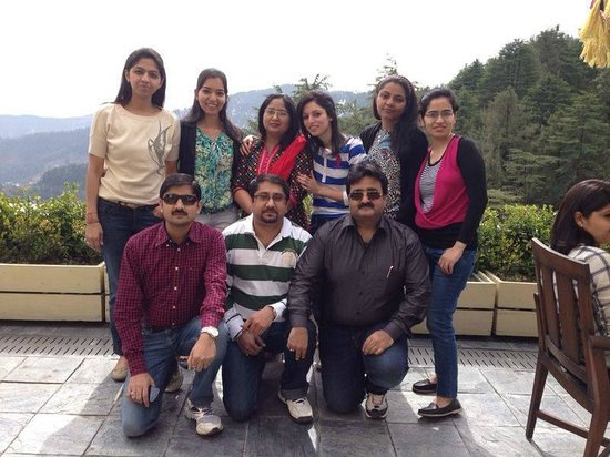 Wildflower Hall, Shimla in the Himalayas: At the Restaurant Terrrace