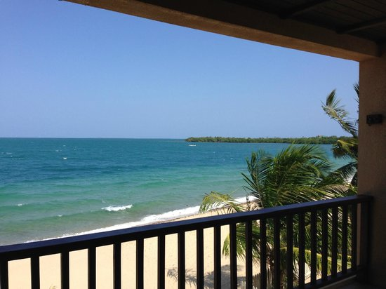A Belizean Nirvana: On the balcony of our room