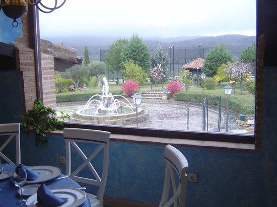 Hotel El Balcon de la Vera : Vista desde el restaurante El camarero muy profesional y agradable
