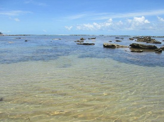 Satu Beach: lagoas transparentes