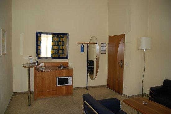 Starlight Suiten III Heumarkt: frigorifico, microondas, agua corriente, etc