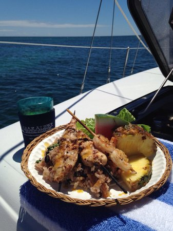 Marauder Sailing Charters - Private Tours: Delicious food!