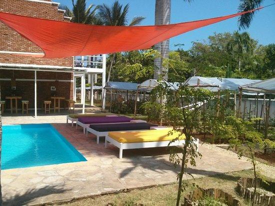 Hostel Laguna Park: piscina lounge