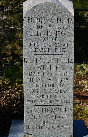 Spruce Bluff Preserve: Family listed on the stone marker