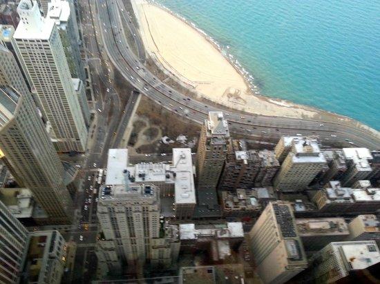Millennium Knickerbocker Chicago : Blick vom Hancock-Tower auf die Umgebung des Hotels