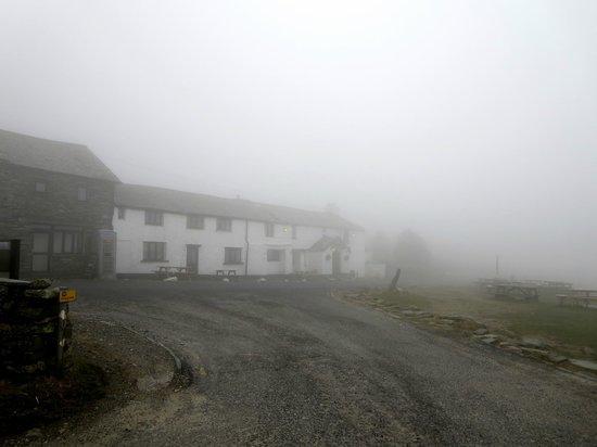 Kirkstone Pass Inn Bar: Kirkstone Pass Inn in low cloud.