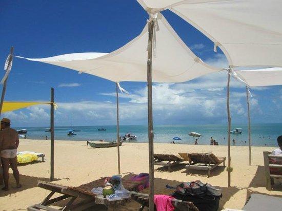 Corumbau Beach: barracas do restaurante Canal do Pampo