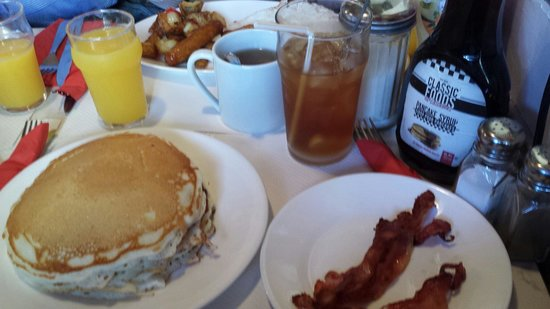 Breakfast in America: Pancakes and bacon