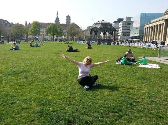 Palace Square (Schlossplatz) : Замечательный лужайки