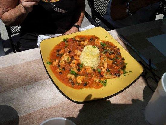 Nauti Nancy's: Catfish with rice tower