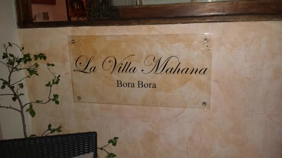 La Villa Mahana: the place