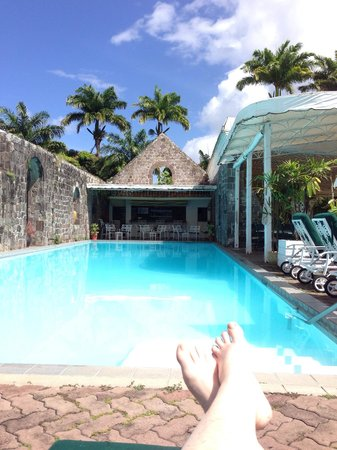 Ottley's Plantation Inn: My view from my pool lounger.