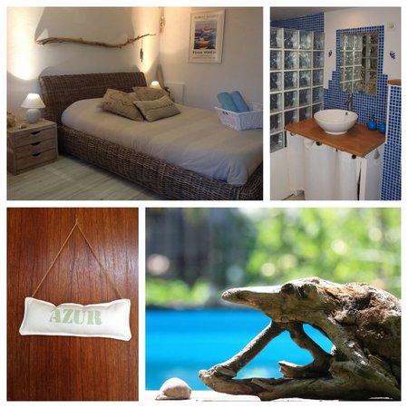 L'îlot Bambou : Chambre azur