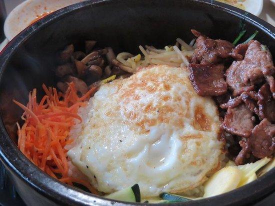 Yeo-Bo's Cafe Korean BBQ : Hot stone bowl Bi Bim Bop