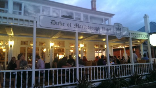 Duke of Marlborough Hotel: The famous Duke front porch